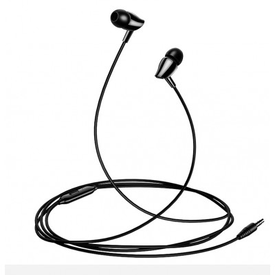 USAMS EP-37 In-Ear Stereo Headset 3,5mm Black (200-106-131)