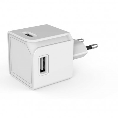 PowerCube Allocacoc - USB Cube Original Πολύμπριζο 4 Θέσεων USB-A  White  (200-106-135)