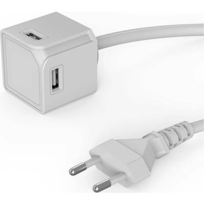 Allocacoc PowerCube |USBcube Extended USB A| Πολύπριζο 4 θέσεων USB-A - Λευκό - 10464WT/EUEUMC (200-106-138)