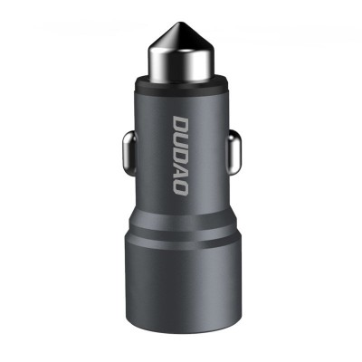 Dudao R4 UniversalDudao R5 Universal Car Charger 2x USB 2.4A Φορτιστής Αυτοκινήτου Aluminum Grey (200-106-174) Φορτιστής Αυτοκινήτου USB Quick Charge 3.0 4A 15W - Λευκό (200-105-210)