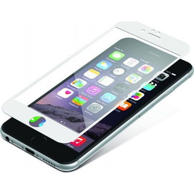 Zagg InvisibleSHIELD Full Face Tempered Glass iPhone 6 / 6S Plus White (200-106-201)
