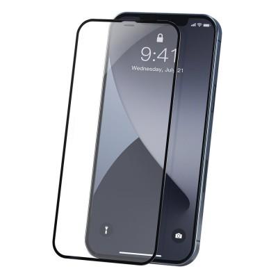 Baseus Tempered Glass  Full screen 0,23 mm - Αντιχαρακτικό Γυαλί Οθόνης iPhone 12 Pro Max 2pcs (200-106-957)