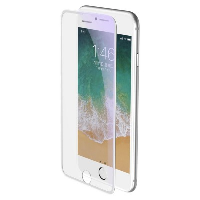 Baseus 3D Full Cover Tempered Glass με Anti-Blue Light Film για Apple iPhone 8 Plus / 7 Plus – White (200-106-999)