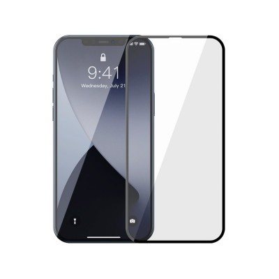 Baseus Tempered Glass  Full screen 0,3 mm - Αντιχαρακτικό Γυαλί Οθόνης iPhone 12 Pro Max 2pcs (200-107-134)
