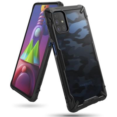 Ringke Fusion-X Θήκη Samsung Galaxy M51 - Camo Black (200-107-151)