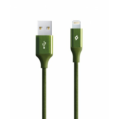 Ttec AlumiCable™ Lightning Charge/Data Cable 1,2m Green (200-107-162)