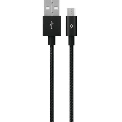 Ttec AlumiCable™ Micro USB Καλώδιο Φόρτισης&Συγχρονισμού 1.2m Black (200-107-163)