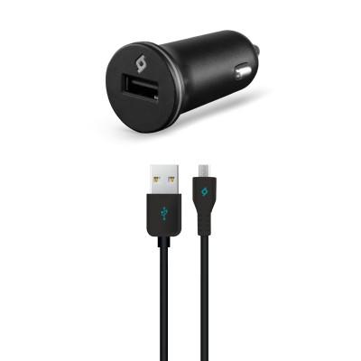Ttec Compact™ USB Φορτιστής Αυτοκινήτου με Καλώδιο Micro USB 1A Μαύρο (200-107-172)