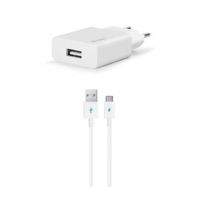 Ttec SmartCharger™ Ταχυφορτιστής Ταξιδιού με Καλώδιο Micro USB (200-107-185)