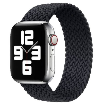 Stoband Hera Braided Black Λουράκι για Apple Watch 42mm & 44mm (200-107-205)