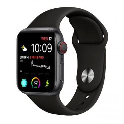 Stoband Themis Series Silicone Black Λουράκι Apple Watch 42mm & 44mm (200-107-207)