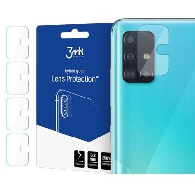 3MK Hybrid Glass Camera Protector - Αντιχαρακτικό Υβριδικό Προστατευτικό Γυαλί για Φακό Κάμερας Samsung Galaxy A71 - 4 τεμάχια (200-107-691)
