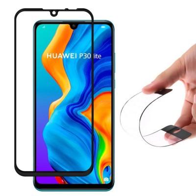 Wozinsky Full Cover Flexi Nano Tempered Glass Black Edge για Huawei P30 Lite (200-107-834)