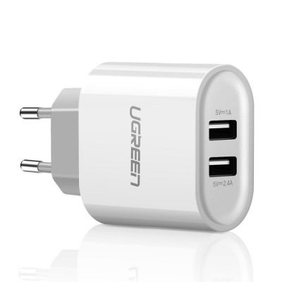 Ugreen wall charger 2x USB 3,4 A white (CD104 20384) (200-107-898)