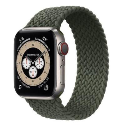 Stoband Hera Braided Green Λουράκι για Apple Watch 42mm & 44mm (Size: L) (200-108-021)