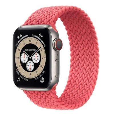 Stoband Hera Braided Pink Λουράκι για Apple Watch 42mm & 44mm (Size: M) (200-108-022)