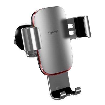 Baseus Metal Age Gravity Car Mount Air Vent Holder για συσκευές με οθόνη από 4'' έως 6'' Silver (200-108-048)