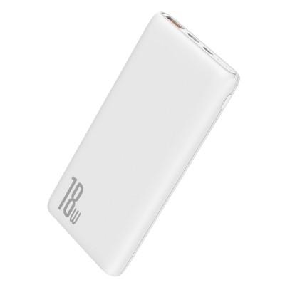 Baseus Bipow Power Bank 10000mAh 18W Quick Charge 3.0 - White (PPDML-02) (200-108-054)