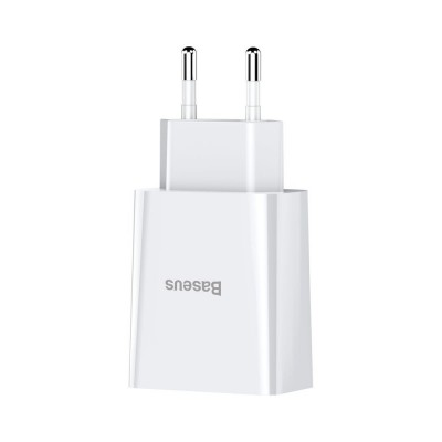 Baseus wall charger adapter 2x USB 2.1A 10,5W white (CCFS-R02) (200-108-056)