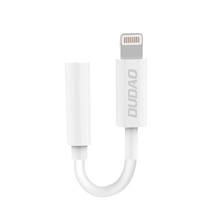 Dudao Converter Adapter from Lightning to headphones jack 3,5 mm (female) white (L16i white)  - (200-108-057)