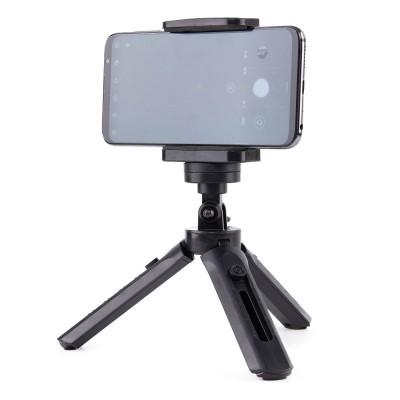 Mini Tripod with phone holder mount selfie stick camera GoPro holder black (200-108-059)