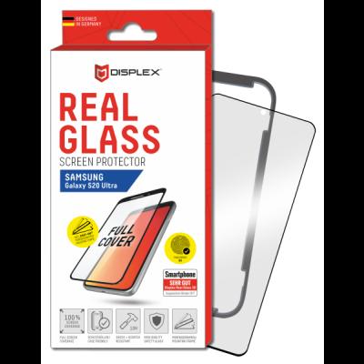 Displex Tempered Glass 3D Black - Αντιχαρακτικό Γυαλί Οθόνης Samsung Galaxy S20 Ultra (200-108-074)