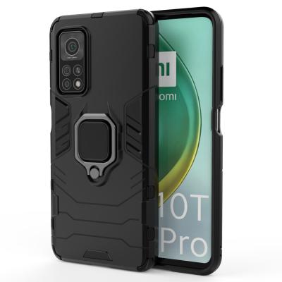 OEM Ring Armor Kickstand Magnetic Θήκη Xiaomi Mi 10T Pro / Mi 10T  - Black (200-108-085)