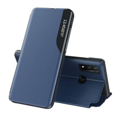 OEM  Flip Cover Case Θήκη με Ημιδιάφανο Παράθυρο για Huawei P Smart 2021 - Blue (200-108-090)