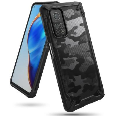 Ringke Fusion-X Θήκη Xiaomi Mi 10T Pro / Xiaomi Mi 10T - Camo Black / Transparent (200-108-095)