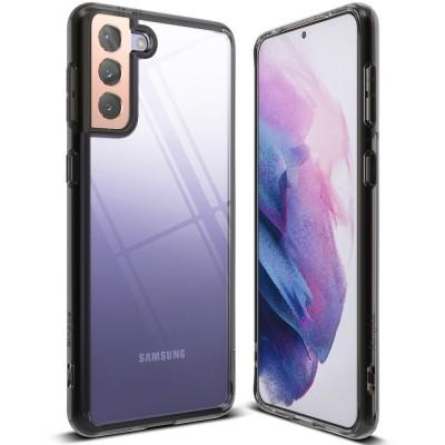 Ringke Fusion Θήκη Σιλικόνης Samsung Galaxy S21 Plus 5G - Clear / Grey (200-108-097)