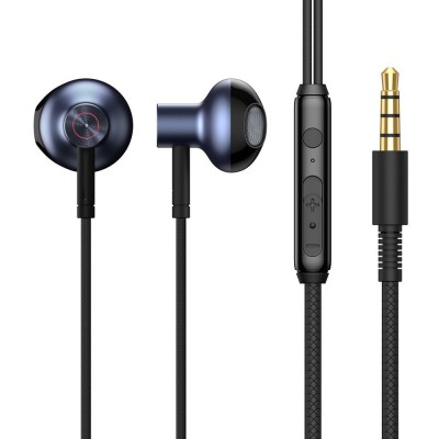 Ακουστικά Baseus Encok H19 3,5 mm mini jack wired earphones with remote control and microphone Blue-Black (NGH19-01) (200-108-099)