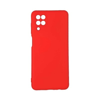 OEM Soft Touch Silicon για Samsung Galaxy A12 Κόκκινο (200-108-127)