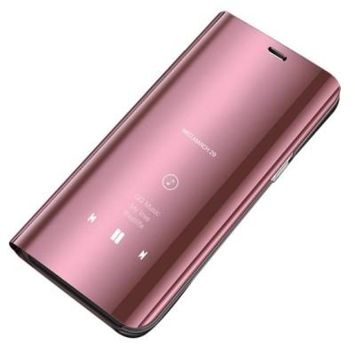 Θήκη Clear View Standing Cover για Samsung Galaxy A12 Ροζ - OEM (200-108-129)