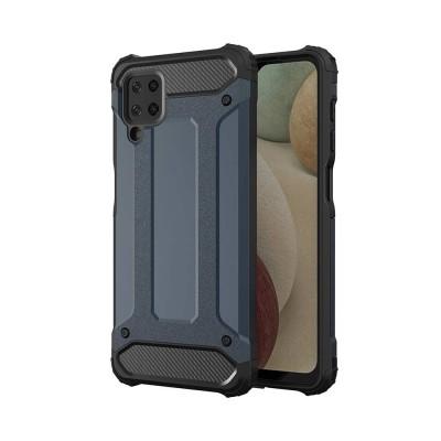 OEM Hybrid Armor Case Tough Rugged Cover for Samsung Galaxy A12 Blue (200-108-179)