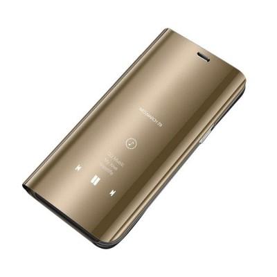Θήκη Clear View Standing Cover για Xiaomi Redmi 9 - Gold OEM (200-108-219)