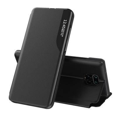 OEM Flip Cover Case Θήκη με Ημιδιάφανο Παράθυρο για Xiaomi Redmi Note 9S / 9 Pro- Black (200-108-385)