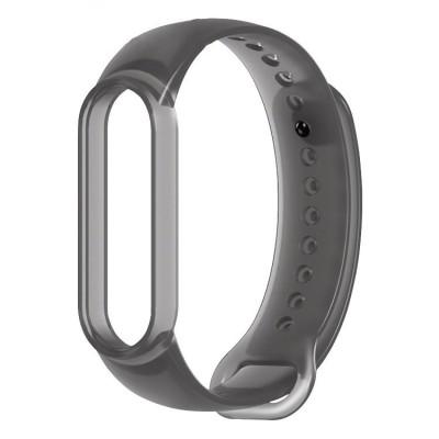 OEM Λουράκι Σιλικόνης για Xiaomi Mi Band 5 - Γκρι  (200-108-418)