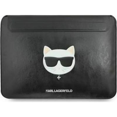 Karl Lagerfeld Leather Choupette Sleeve Case για Apple MacBook Air/Pro - Black