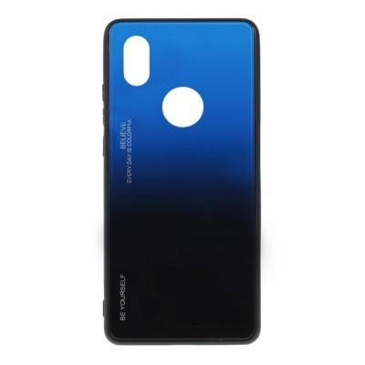 OEM Glass Case Huawei P20 Lite - Μαύρο / Μπλε (200-108-444)