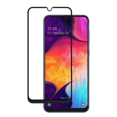 ΟΕΜ Full Cover Tempered Glass Black για Samsung Galaxy A70 (200-108-448)