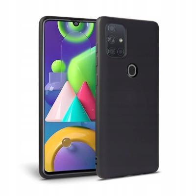 OEM Soft Touch Silicon για Samsung Galaxy A21s Black ( 200-108-469)