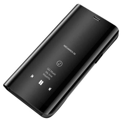 Θήκη Clear View Standing Cover για Xiaomi Redmi Note 9T Μαύρη - OEM (200-108-493)