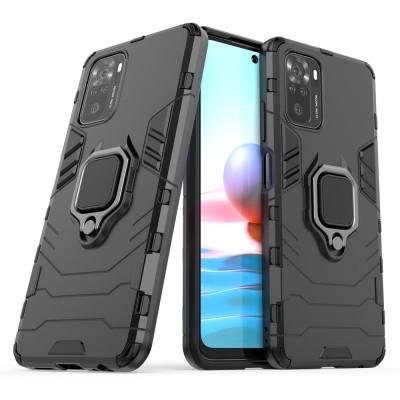 OEM Ring Armor Kickstand Magnetic Θήκη Xiaomi Redmi Note 10 / 10s  - Black (200-108-507)