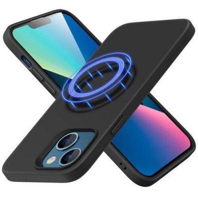 ESR Θήκη Σιλικόνης Cloud HaloLock MagSafe Apple iPhone 13 - Black (200-108-616)