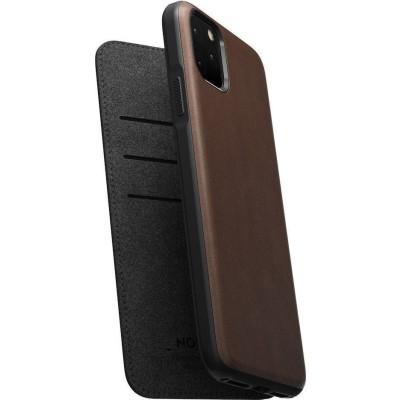 Nomad Δερμάτινη Rugged Folio Θήκη - Πορτοφόλι iPhone 11 Pro Max - Brown