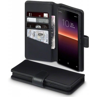 Terrapin Δερμάτινη Θήκη - Πορτοφόλι Sony Xperia 10 II - Black (117-005-680)