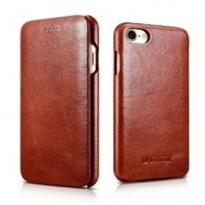iCarer Vintage Curved Edge Δερμάτινη Θήκη iPhone 8 / 7 - Brown (RIP 701)