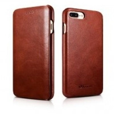 iCarer Vintage Curved Edge Δερμάτινη Θήκη iPhone 8 Plus / iPhone 7 Plus - Brown (RIP 7001)