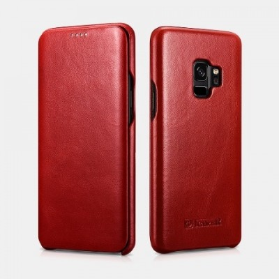 iCarer Vintage Δερμάτινη Θήκη Samsung Galaxy S9 - Red (RS 99201-RD)