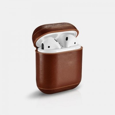 iCarer Leather AirPods Case Δερμάτινη Θήκη για Apple Airpods - Brown  (IAP 001/018)